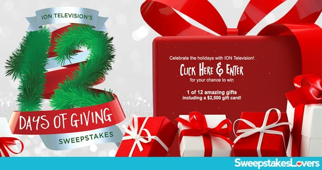 Ion Television 12 Days of Giving Sweepstakes