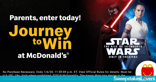 McDonald's Star Wars Rise of Skywalker Sweepstakes