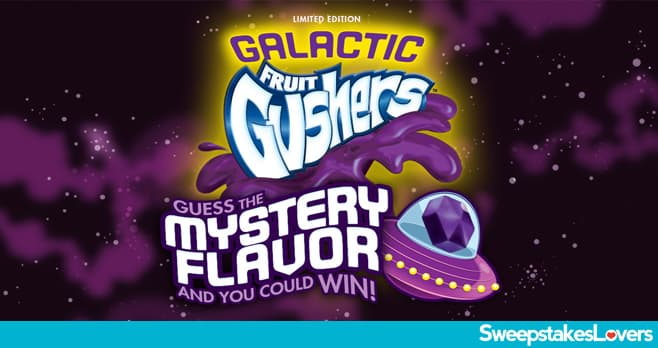 Galactic Gushers Mystery Flavor Instant Win Game 2020