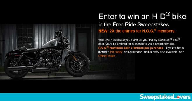 Harley-Davidson Visa Free Ride Sweepstakes 2020