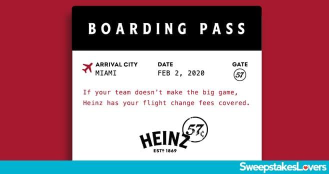 Heinz 57 Flight Change Sweepstakes 2020