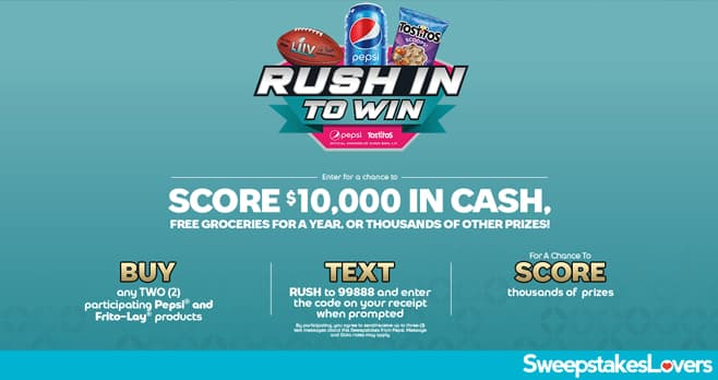 Pepsi Rush In to Win Instant Win Game 2020
