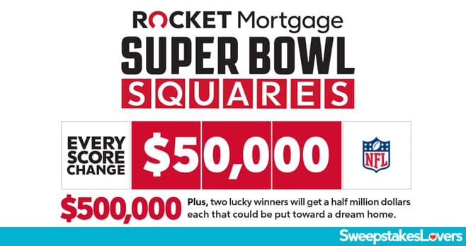Rocket Mortgage Super Bowl Squares Sweepstakes 2020