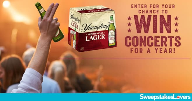 Yuengling Spread Your Wings Concert Tour Sweepstakes 2020