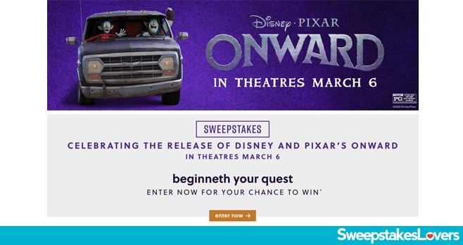 Ashley HomeStore Disney and Pixar Onward Sweepstakes 2020