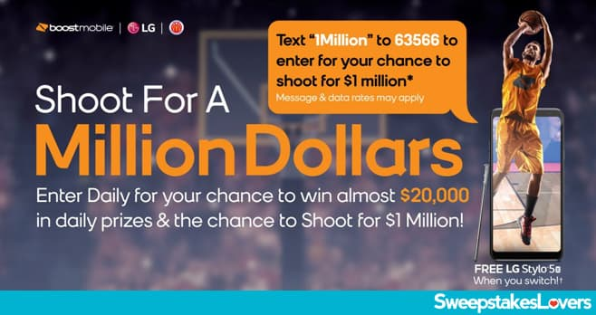 Boost Mobile Shoot For 1 Million Sweepstakes 2020