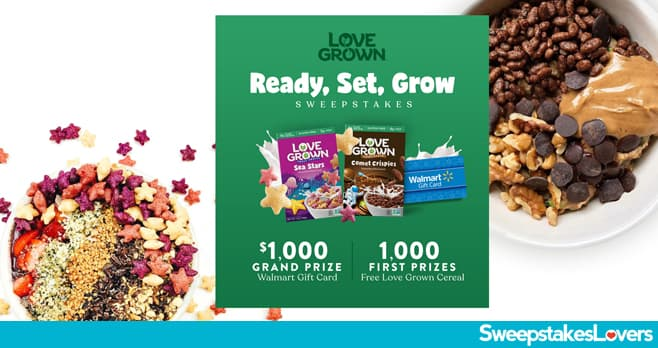 Love Grown Walmart Sweepstakes 2020