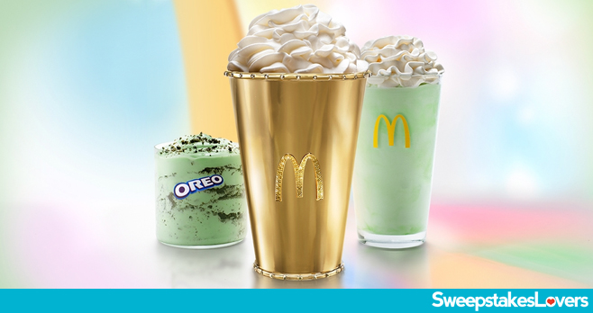 McDonald's Golden Shamrock Shake Sweepstakes 2020