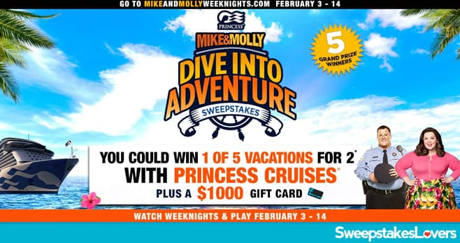 Mike and Molly Dive Into Adventure Sweepstakes 2020