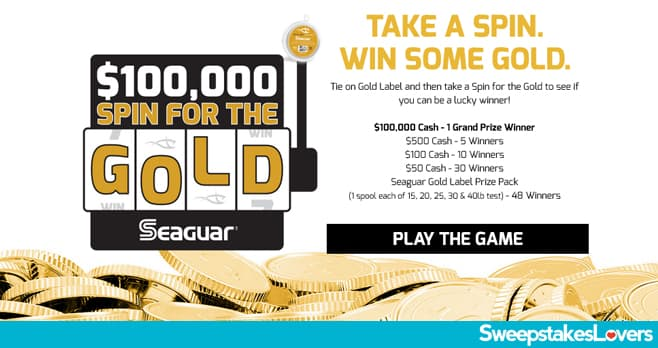 Seaguar Spin For The Gold Instant Win Game 2020