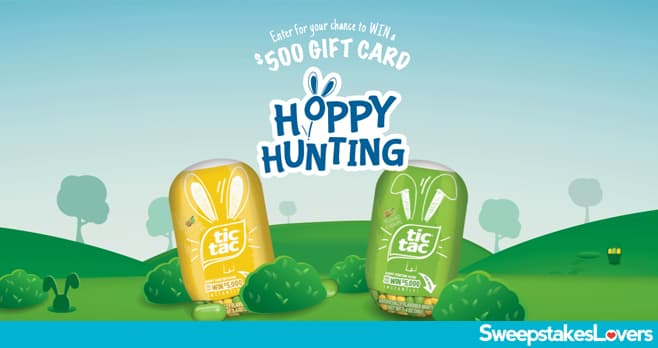 Tic Tac Hoppy Hunting Sweepstakes & Instant Win Game 2020