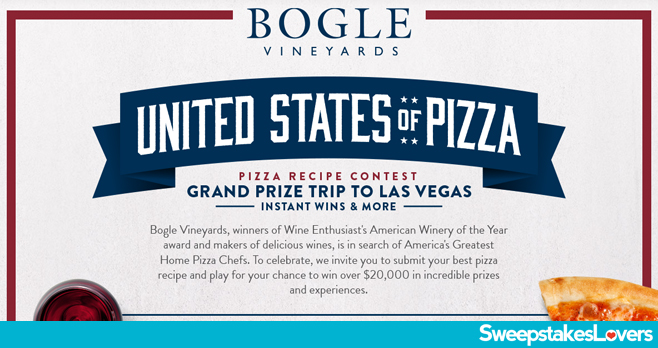 Bogle United States of Pizza Sweepstakes 2020