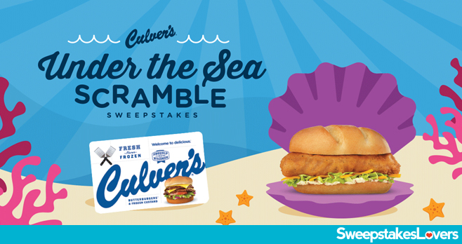 Culver's Under the Sea Scramble Sweepstakes 2020