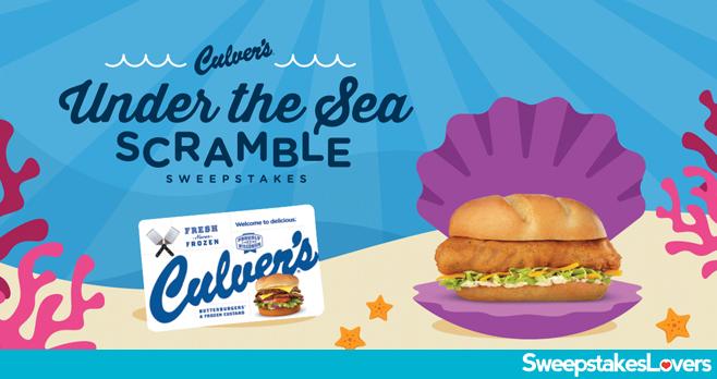 Culver's Under the Sea Scramble Sweepstakes 2020