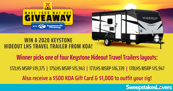 KOA Make Your Way Out Giveaway 2020