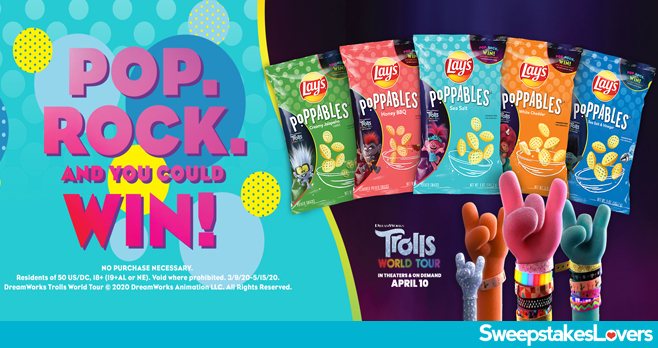 Lay's Poppables DreamWorks Trolls World Tour Sweepstakes