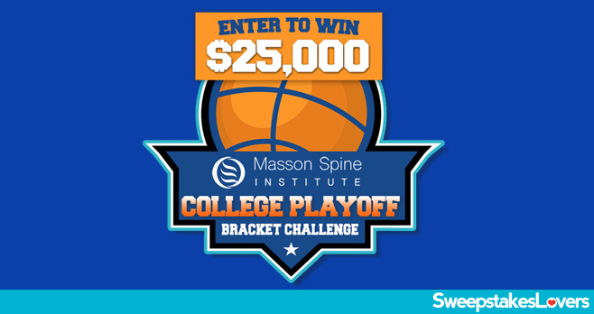 Masson Spine Institute $25,000 College Playoff Bracket Challenge Contest 2020