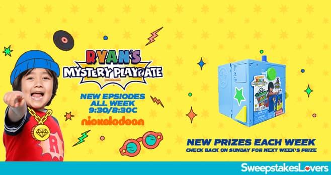 Nickelodeon Ryan's Mystery Sweepstakes 2020