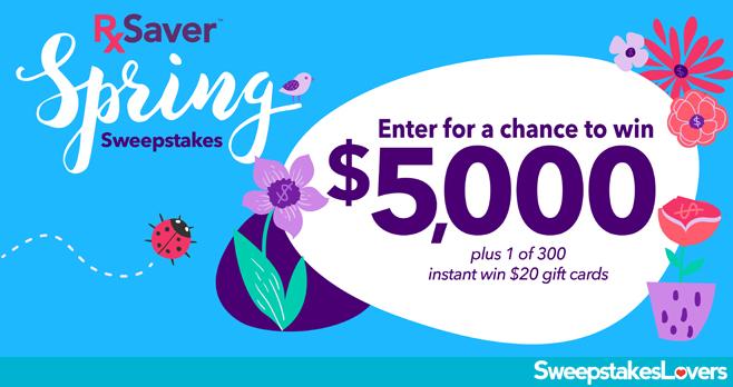 RxSaver Season Savings Sweepstakes 2020