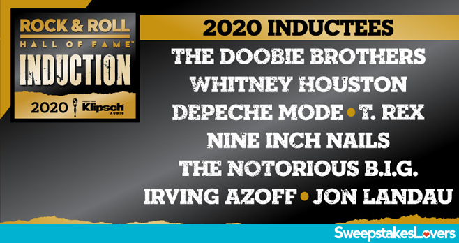 SiriusXM Rock & Roll Hall of Fame Induction Sweepstakes 2020
