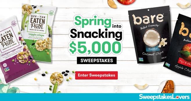 Tasty Rewards Spring Into Snacking $5,000 Sweepstakes 2020