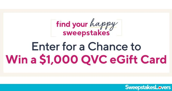 QVC Find Your Happy Sweepstakes 2020