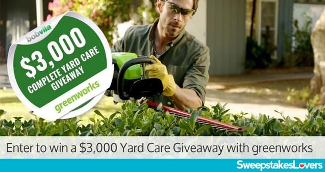 Bob Vila $3,000 Complete Yard Care Sweepstakes 2020