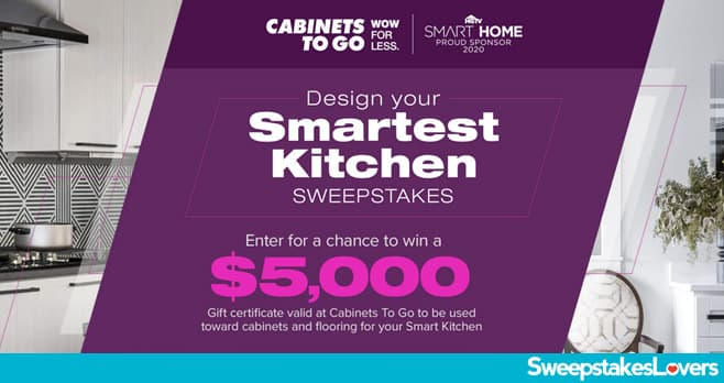 DIY Network and Cabinets To Go Design Your Smartest Kitchen Sweepstakes 2020