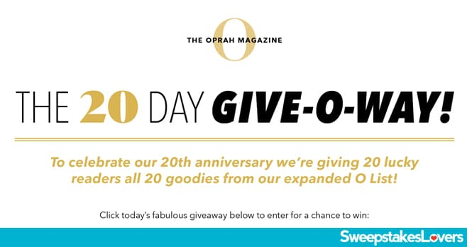 Oprah Mag 20 Days Of Giveaways 2020