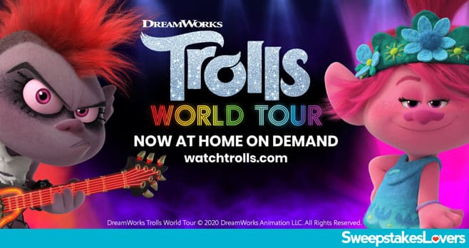 Southwest DreamWorks Trolls World Tour Destination Sweepstakes 2020