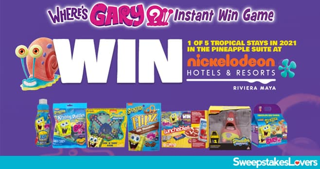 Where's Gary Getaway Instant Win Game and Sweepstakes 2020