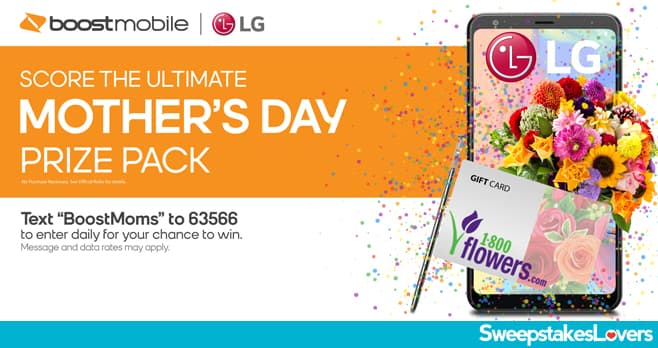 Boost Mobile Mother's Day Sweepstakes 2020