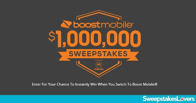Boost Mobile $1,000,000 Sweepstakes 2020