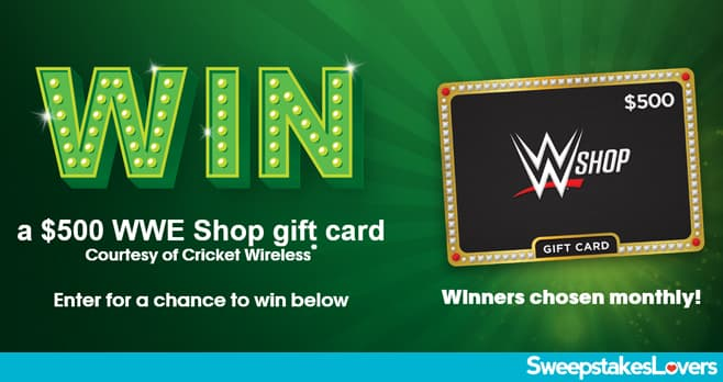 Cricket Wireless WWE Shop Gift Card Sweepstakes 2020