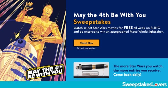 SLING TV Star Wars Sweepstakes 2020
