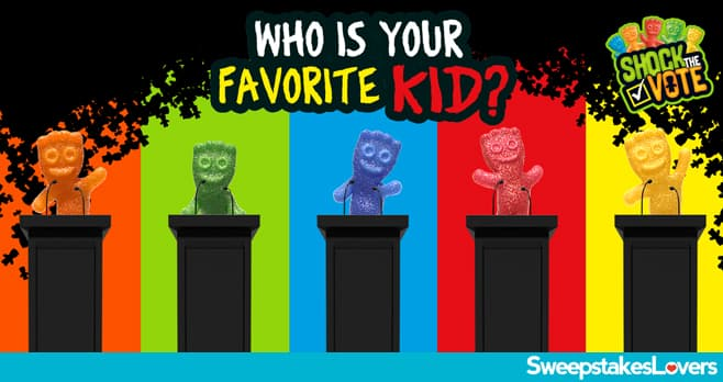 Sour Patch Kids Shock The Vote Sweepstakes and Instant Win 2020