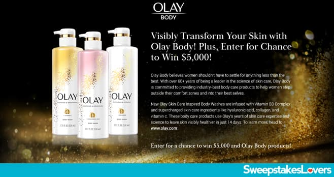 The Real Olay Body Sweepstakes 2020