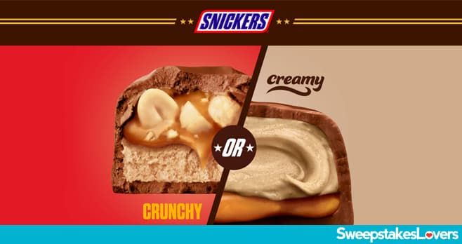 SNICKERS Crunchy or Creamy Instant Win & Sweepstakes 2020