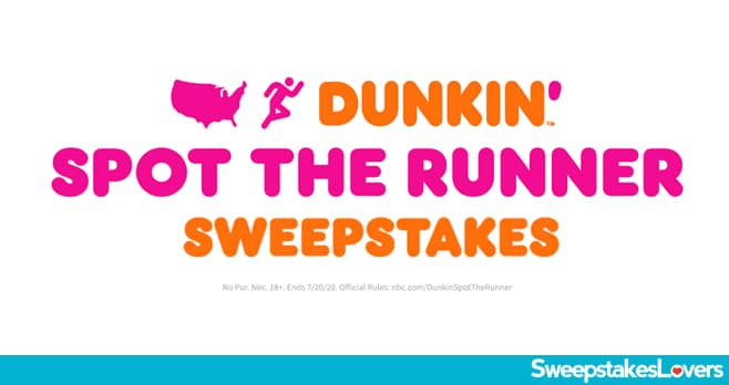 AGT Dunkin Spot The Runner Sweepstakes 2020