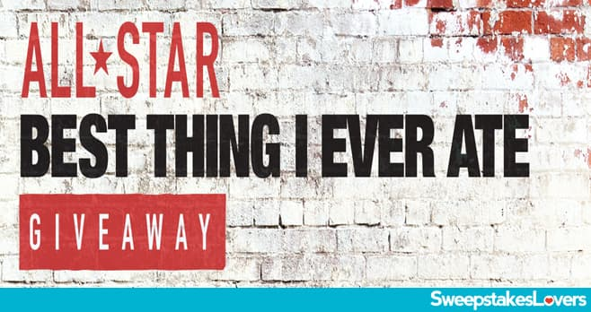 Food Network All-Star Best Thing I Ever Ate Giveaway 2020