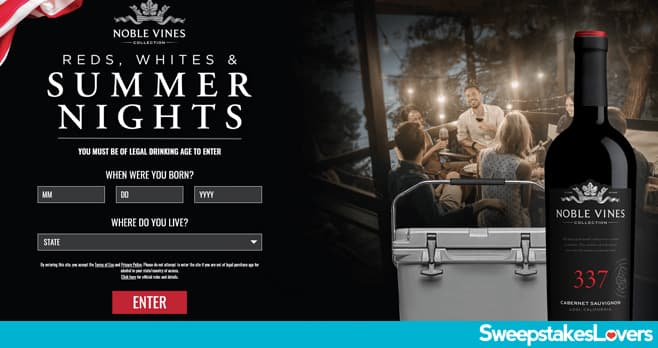 Noble Vines Summer Sweepstakes 2020