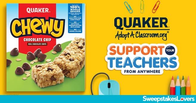 Quaker Back To School Sweepstakes 2020