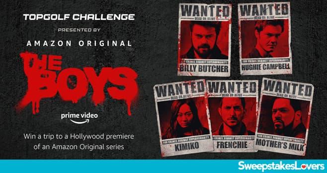 Amazon The Boys Topgolf Challenge Sweepstakes 2020