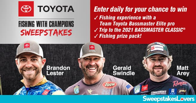 Bassmaster Toyota Fishing with Champions Sweepstakes 2020