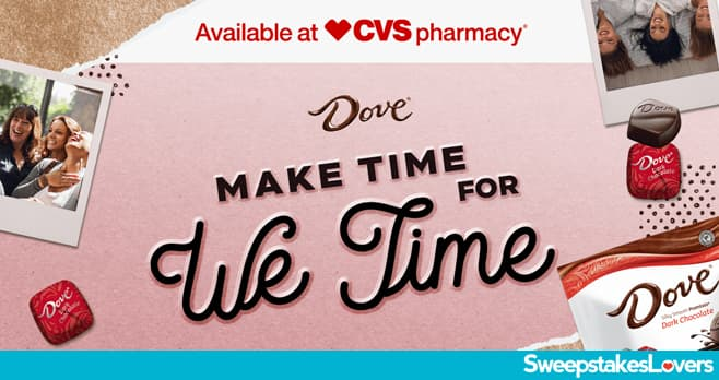 DOVE Make Time For We Time Sweepstakes 2020