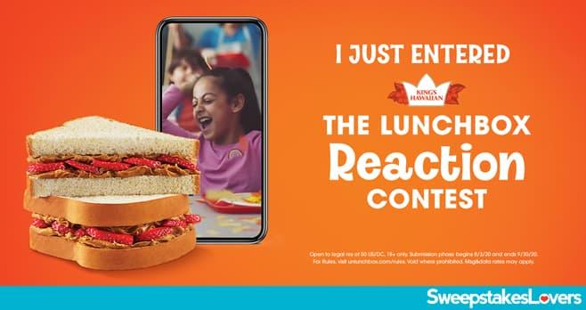 King's Hawaiian Lunchbox Reaction Contest 2020