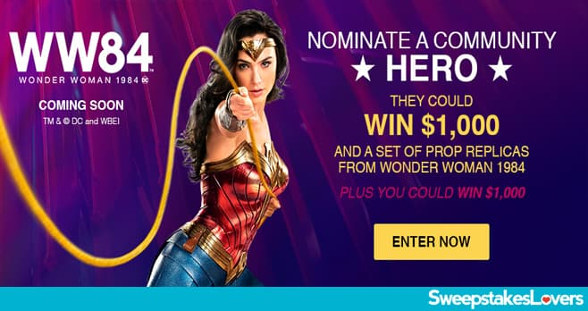 Valpak Wonder Woman 1984 Community Hero Sweepstakes 2020