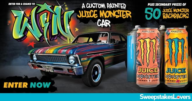 Monster Energy Custom Painted Car Sweepstakes 2020