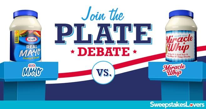 Kraft Plate Debate Sweepstakes 2020