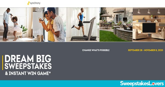 Synchrony Bank Dream Big Sweepstakes 2020